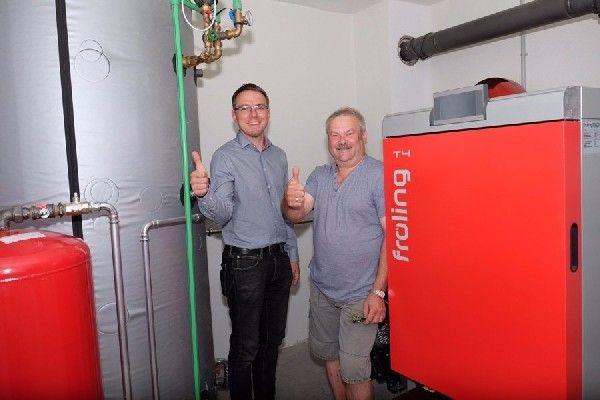 Biowärme für zwei Familien